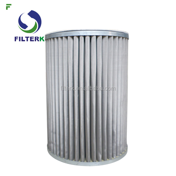 FILTERK G4.0 100 Micron Pleated Filters Elements For Natural Gas