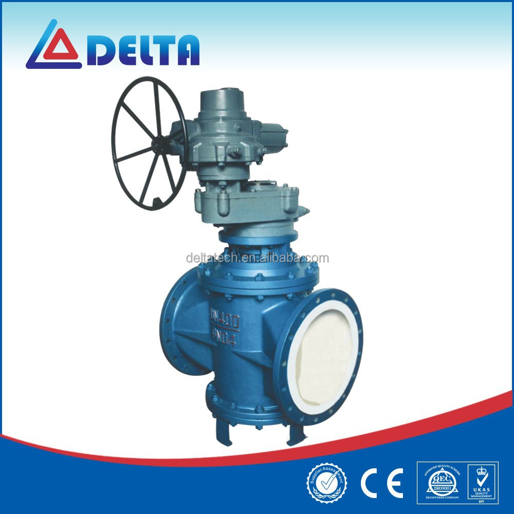 Electric Eccentric Lined Fluorine Two Way Plug Valve