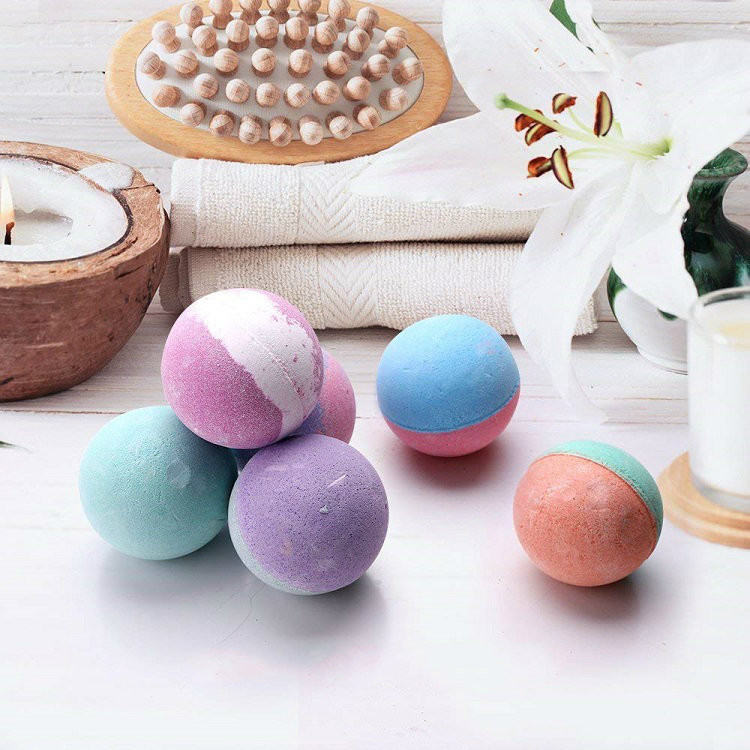 Großhandel Private Label Handmade Colorant Benutzerdefinierte Bubble Natural Vegan Organic Fizzy Bath Bombs