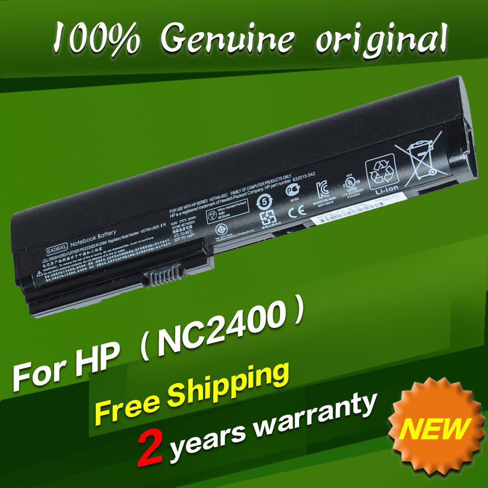Free shipping HSTNN XB21 HSTNN XB22 RW556AA Original laptop Battery For Hp 2533t 2530p 2540p 2400