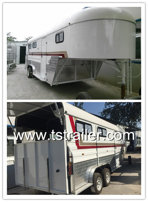 Australia standard 3 horse trailer gooseneck from China,Cheap and Competitive horse trailer