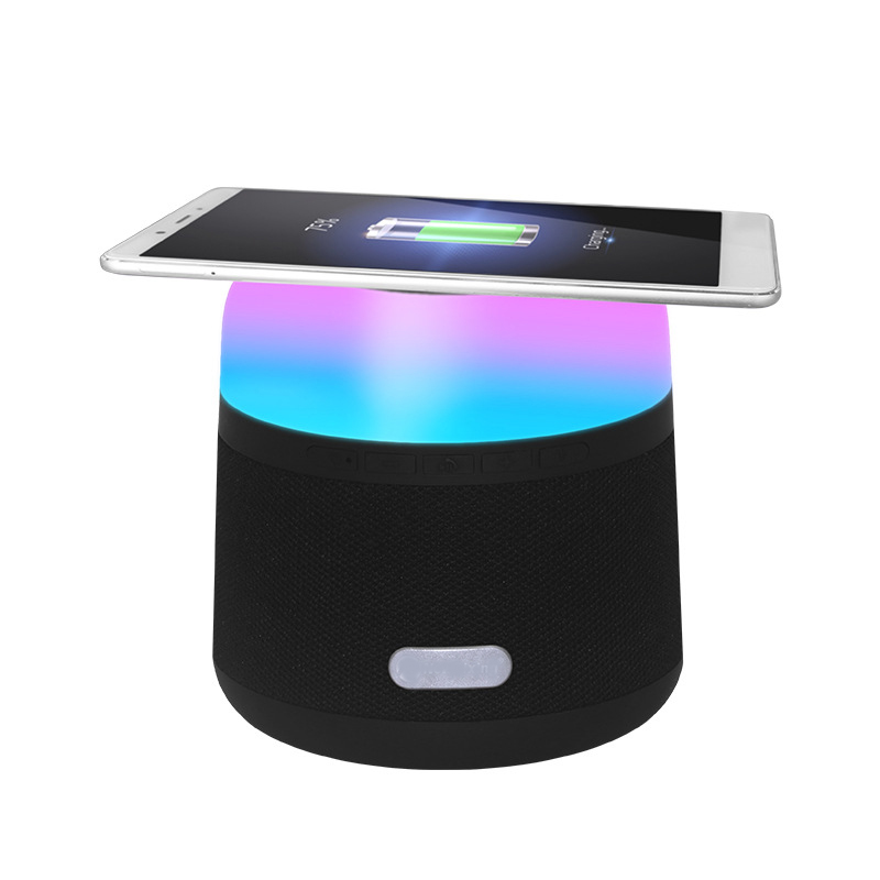 2019 NEW Product Led Colorful Light Lamp <strong>Wireless</strong> Charging Charger Car Party <strong>Bluetooth</strong> <strong>Speaker</strong> With FM Radio Function