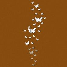 Samolepka na zeď – houf motýlů s funkcí zrcadla