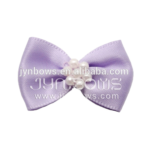 boutique garment accessories, Satin Bows with 7pcs pearl,underwear bow