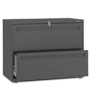 HON : 700 Series Two-Drawer Lateral File, 36w x 19-1/4d, Charcoal -:- Sold as 2 Packs of - 1 - / - Total of 2 Each