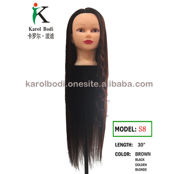 50% human hair 50% synthetic hair 50-50 dummy 32 inches long hair ... 93cb4cd42748
