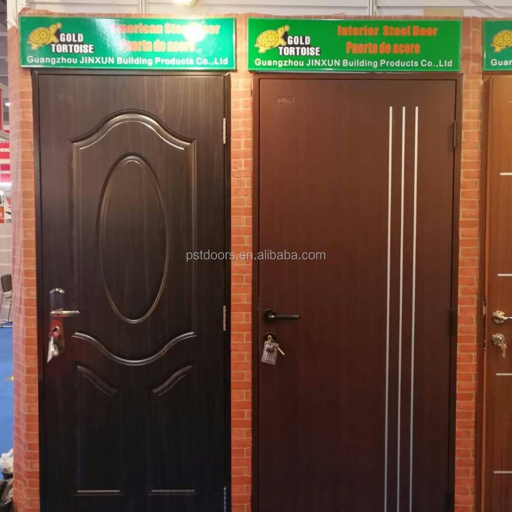 Powder Coating Interior Steel Door With Split Frame Bedroom Doors Malaysian Adjule Coated Paint