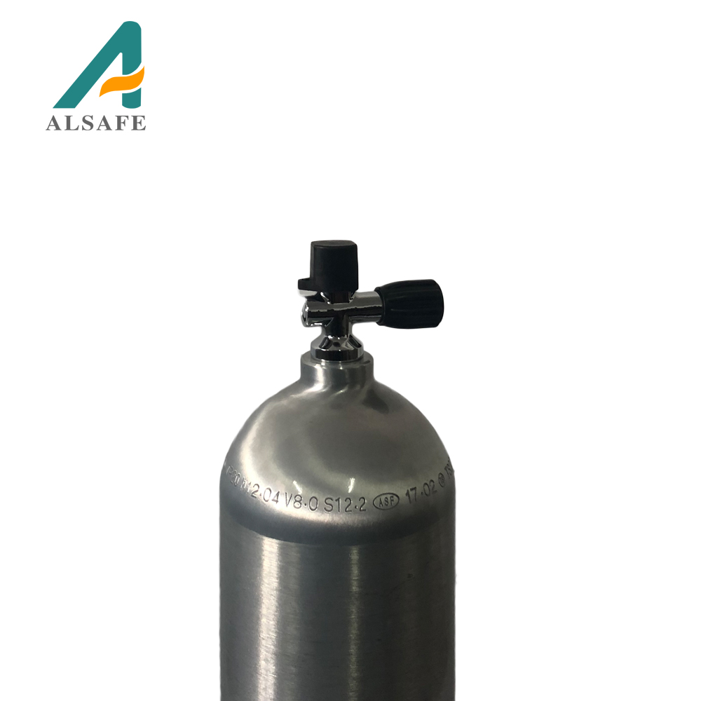 Good price 200bar aluminum small high pressure scuba diving oxygen tank