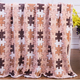Beautiful flower printed chunky wool extra thick heavy fleece blanket