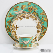 golden bird classic series tableware set 4/5pcs dinnerware set steak dish salad plate coffee cup& saucer