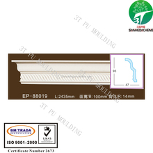 EP-88019 decorative 3T PU foam gypsum crown cornice moulding