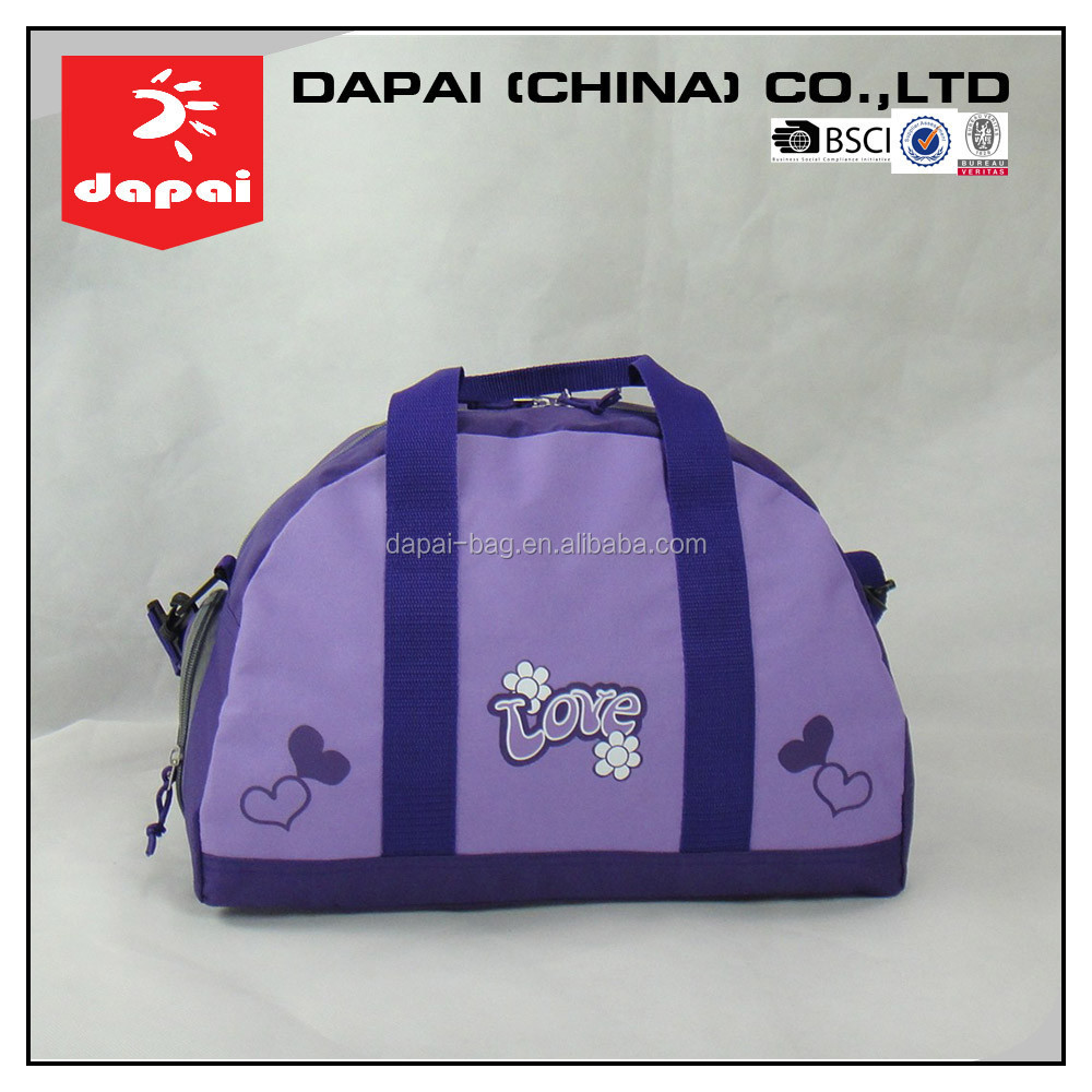 Ladies Purple Luggage Travel Bags Outdoor Foldable Travel Bag