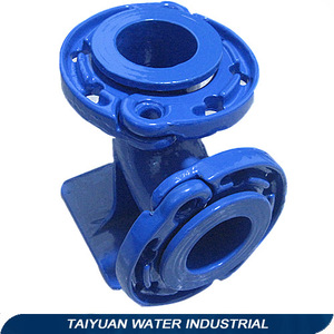 Different diameter pipe fitting cast iron 90 degree flange duckfoot bend