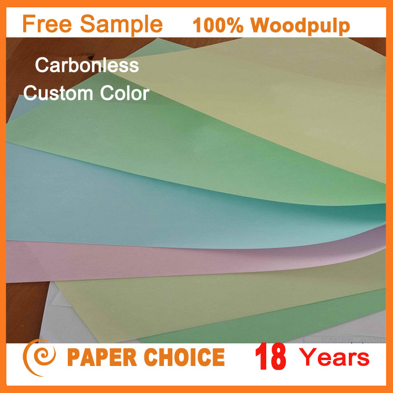 Free sample Wholesale Price 100% Woodpulp Cheap Carbonless Color Copy Paper