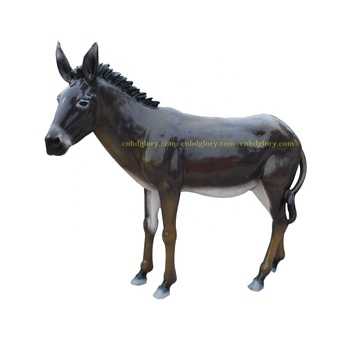Fiberglass art New product  sculpture donkey statue For Sale
