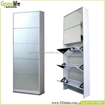 Beau Wooden Shoe Cabinet With Mirror Sale To Australia