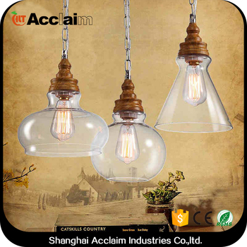 E27 Light Source Outdoor Hanging Balls Hammered Copper Pendant Light Glass  Lamp Shade For Estudio