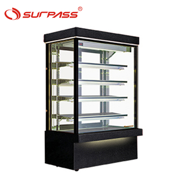 Good quality Upright temperature control cake display cabinet refrigerate