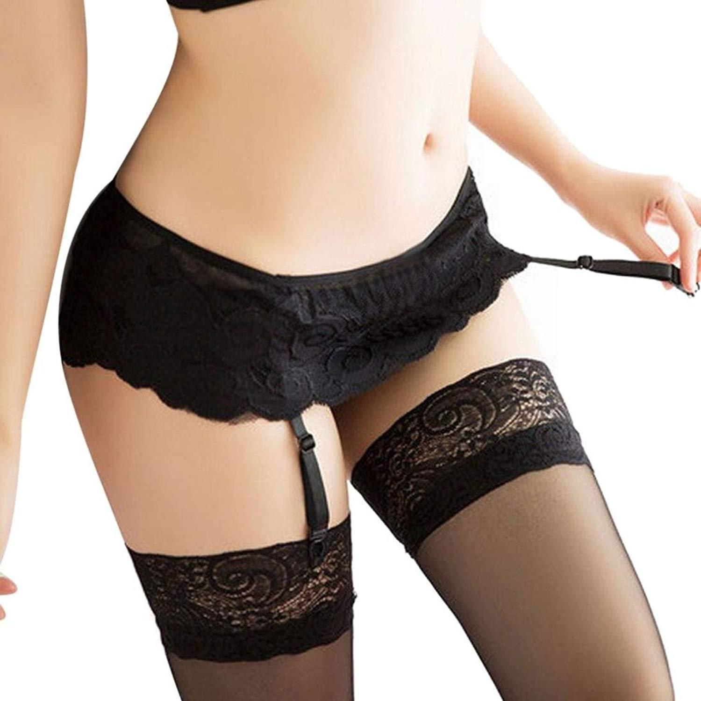 1d4af201637 Get Quotations · HTHJSCO Underwear, Womens Lace Top Thigh-Highs Stockings  Socks + Suspender Garter Belt