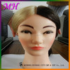 supply all kinds of female practise head, blonde hair training head for hairdressers cheap