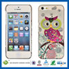C&T Hard back silver foil owl phone case for iphone 5
