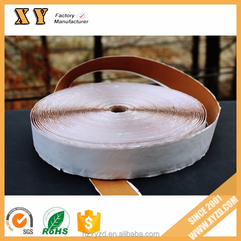 8/5'' inch width free sample offered brown adhesive hook and loop for furniture/bedroom/kitchen/etc