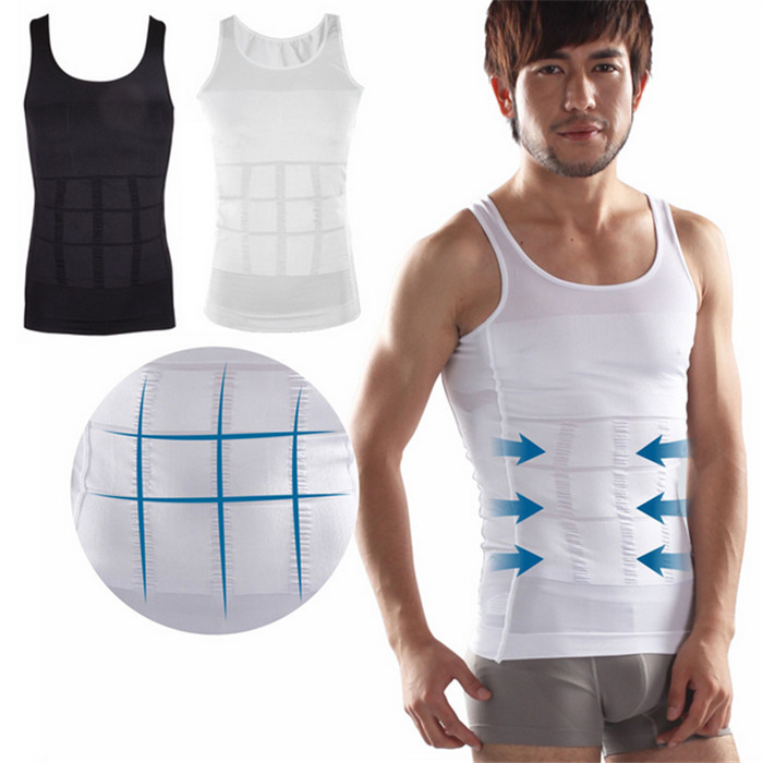 c783ac131aae2 Men s Body Slimming Tummy Shaper Belly Underwear Shapewear Waist Girdle  Shirt - Buy Men s Body Shaper