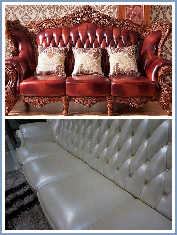 Genuine leather microfiber PU sofa leather
