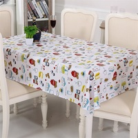 European Style Rectangle Printing Waterproof Oil Proof PVC Plastic Table Cloth