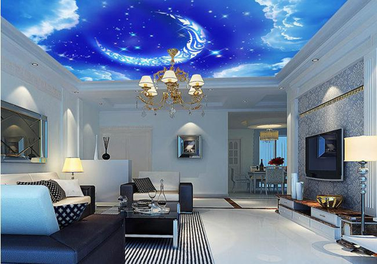 Outer space wall mural home design for Bedroom 3d wallpaper