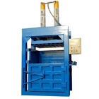 Mini type cube baling scrap cardboard baler machine with high production