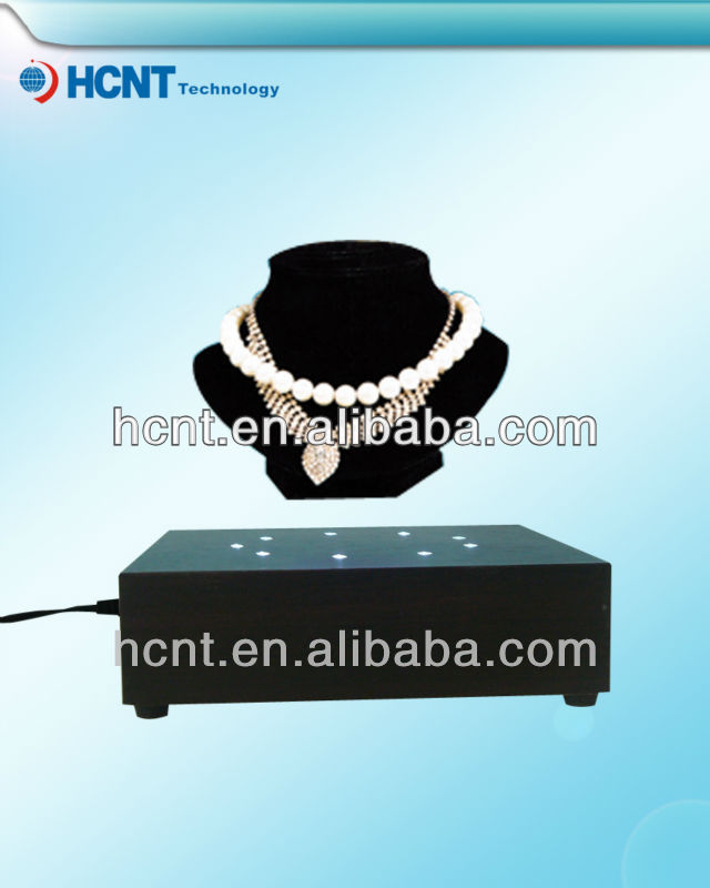 Advertsing magnetic levitating display stand,jewelry trade show displays