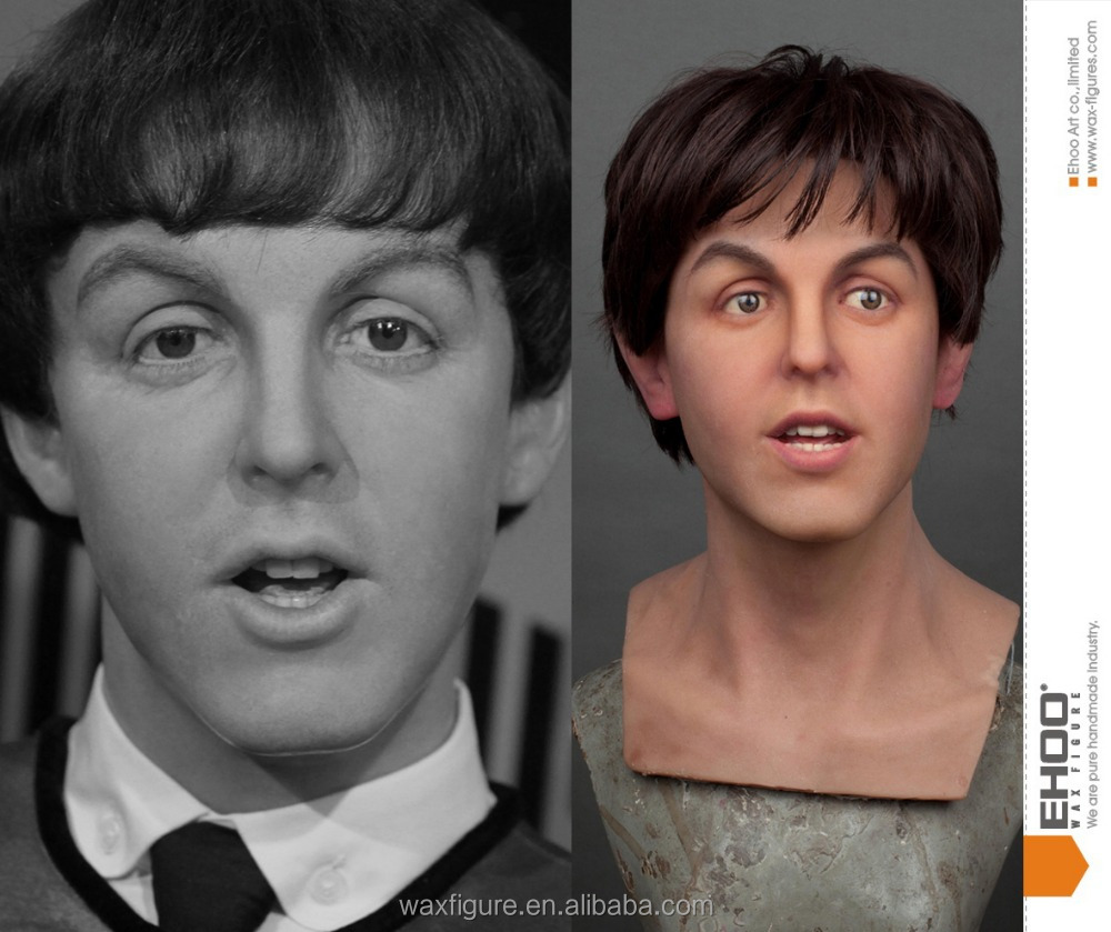 EH45 the beatles James Paul McCartney wax figure, silicone wax statue,wax models,