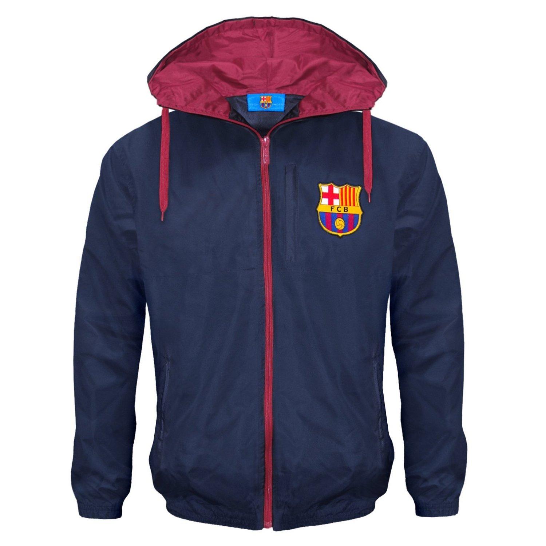 c0f1139083e Get Quotations · F.C. Barcelona FC Barcelona Official Soccer Gift Boys  Shower Jacket Windbreaker