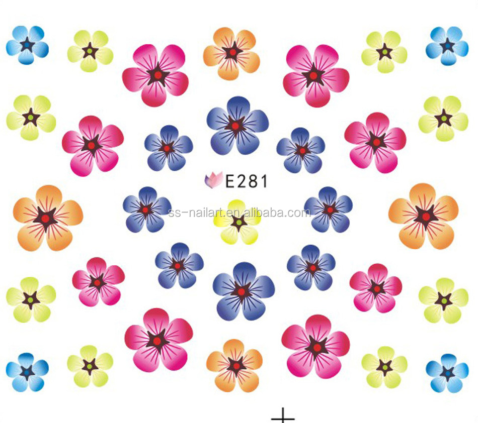 2016 new arrival dry flower design 3d nail art stickers supplier