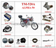 TM-520A ALPHA50 motorcycle spare parts