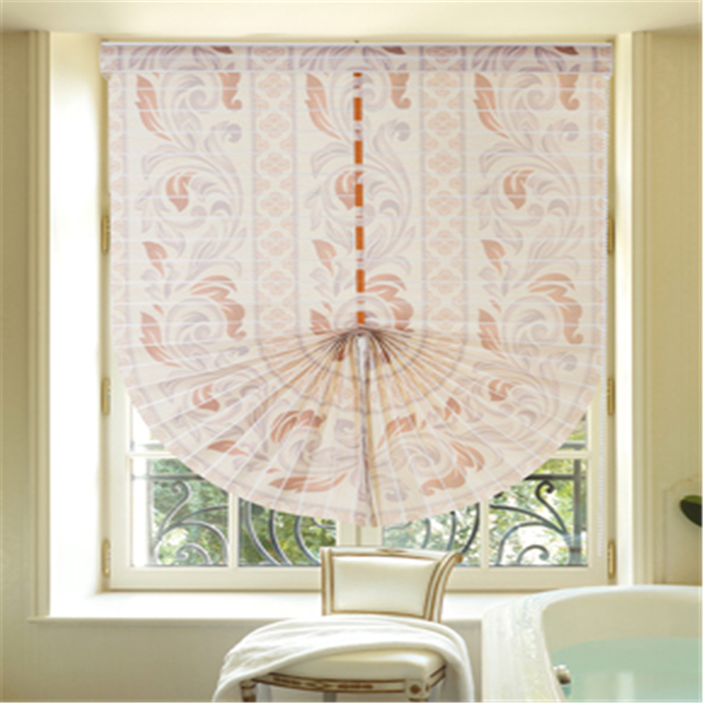 Fan Shape Roman Window Blinds Curtains For High Grade