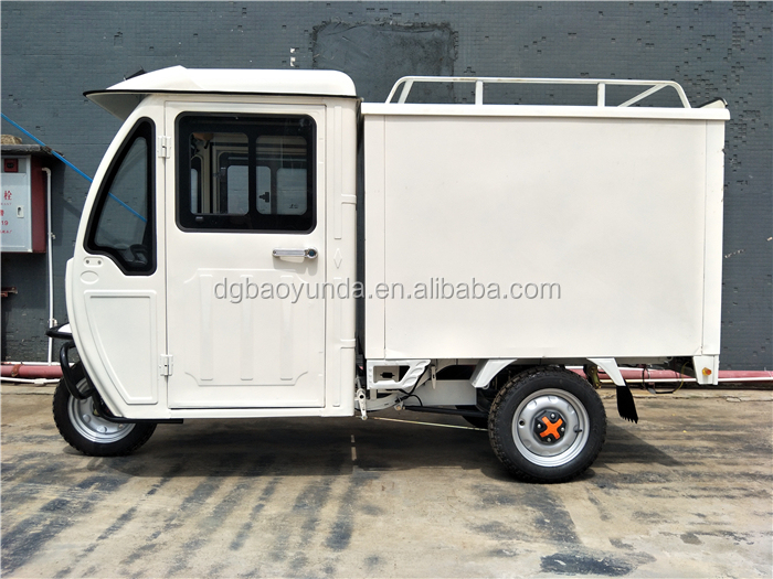 2019 New anti rain van double cabin tricycles for the cargo loading
