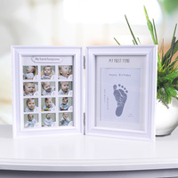 children first year picture frame baby footprint photo frame