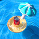 Wholesale swimming party toy inflatable pool float drink holder mushroom shape cup holder