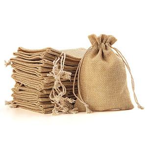 Custom premium natural linen bag hemp drawstring gift pouch bag for jewelry
