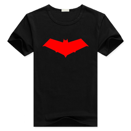 Mens Casual Summer Batman:Under the Red Hood Jason Todd Nightwing T-shirts Print Cotton Short Sleeve Tops Tee Shirts Clothing