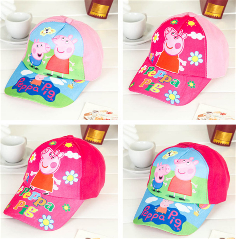 NEW assorted style cartoon Anna Elsa princess pink pig car etc pattern kids cap baseball hat