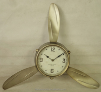 Antique sliver iron fan shape wall clock