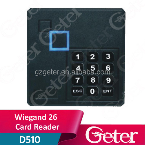 Waterproof RFID 125KHz Card Wiegand 26 Reader With keypad