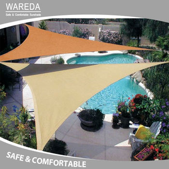 The high quality of swimming pool and HDPE triangel sun sail shade