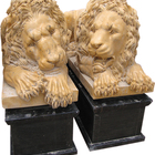 MGL023 High Quality Factory Direct Sale Natural Stone Sculpture Ornamental Vatican Lions Pair Statues