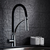 High quality single lever brass chrome black mixer kitchen faucet