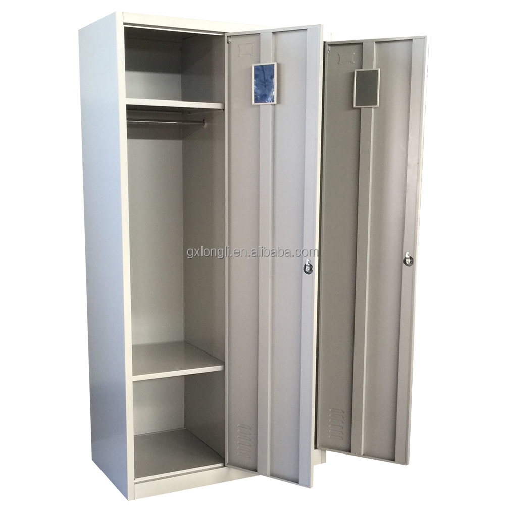 2017 cheap 2 doors steel clothes cabinet/wardrobe