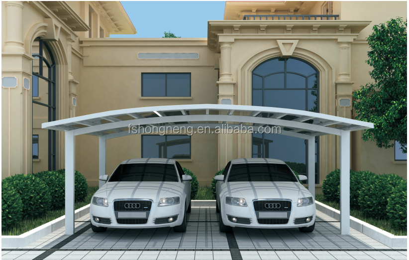 2 Cars Outdoor Aluminium Carport Car Shed with Low Price